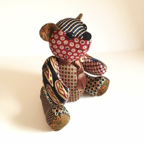 Bear made from Mens ties
