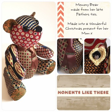 Bereavement Bear from mens ties